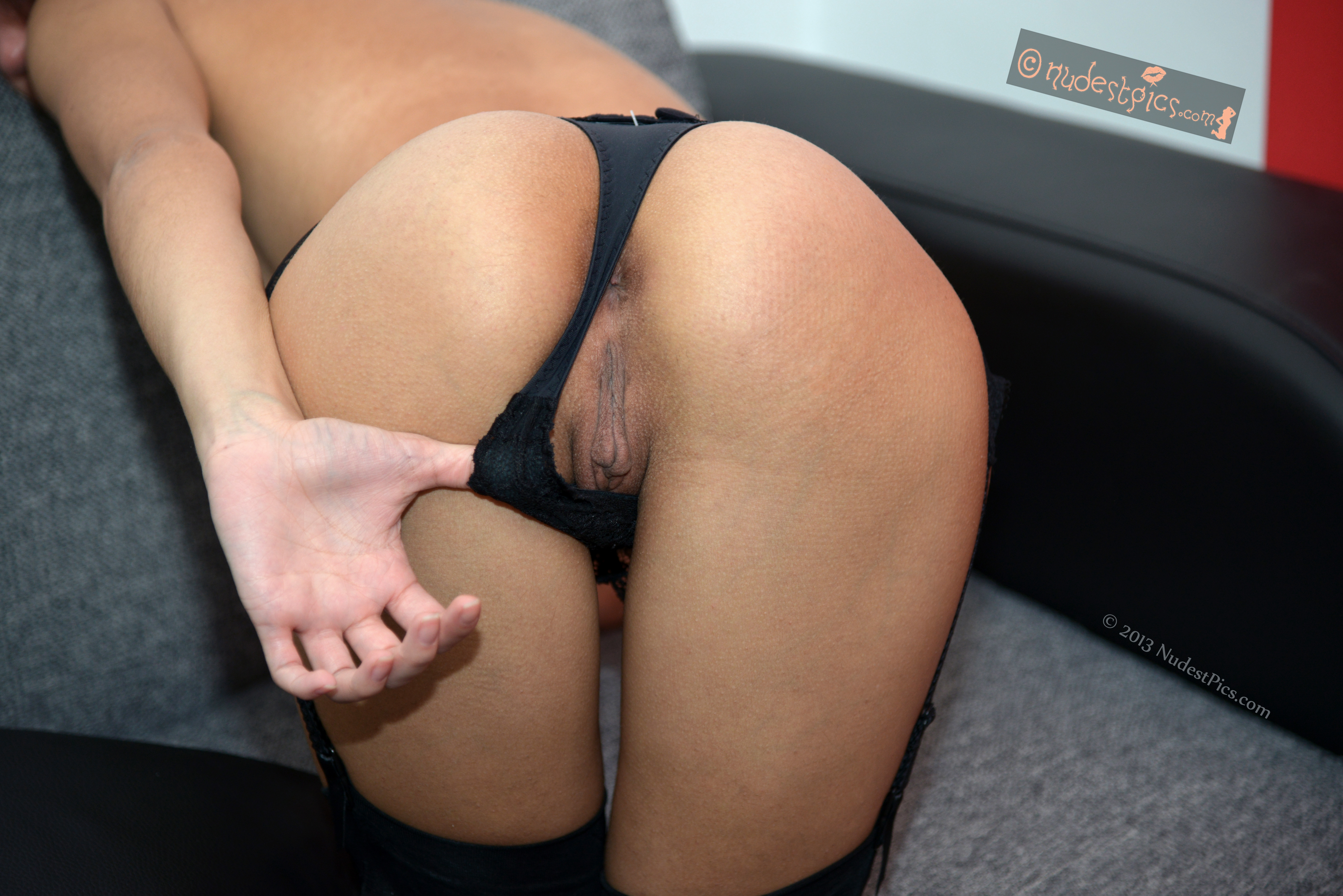 Bent Over In A Thong