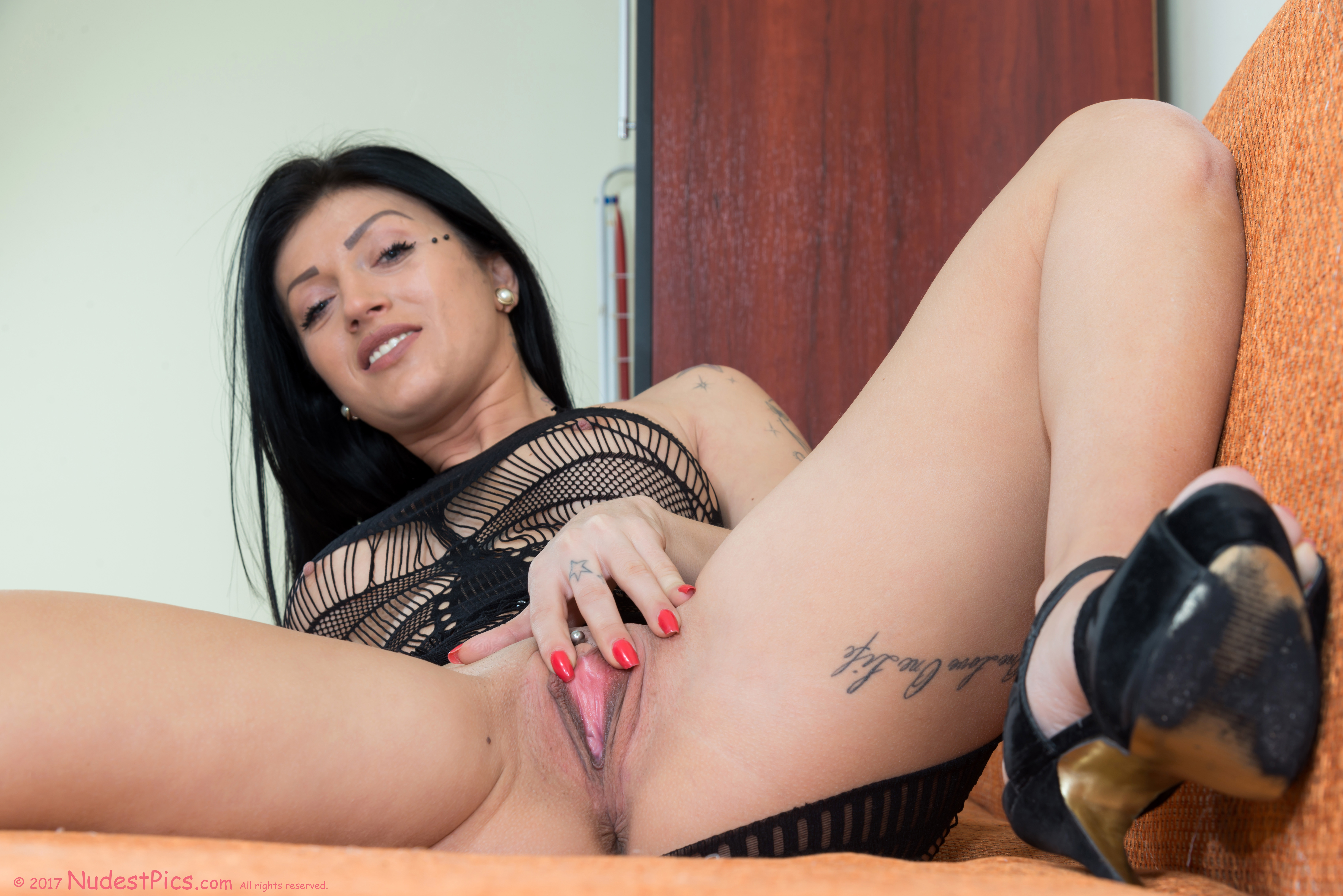 Black Hair Hot Woman Spreading Pink Pussy full HD