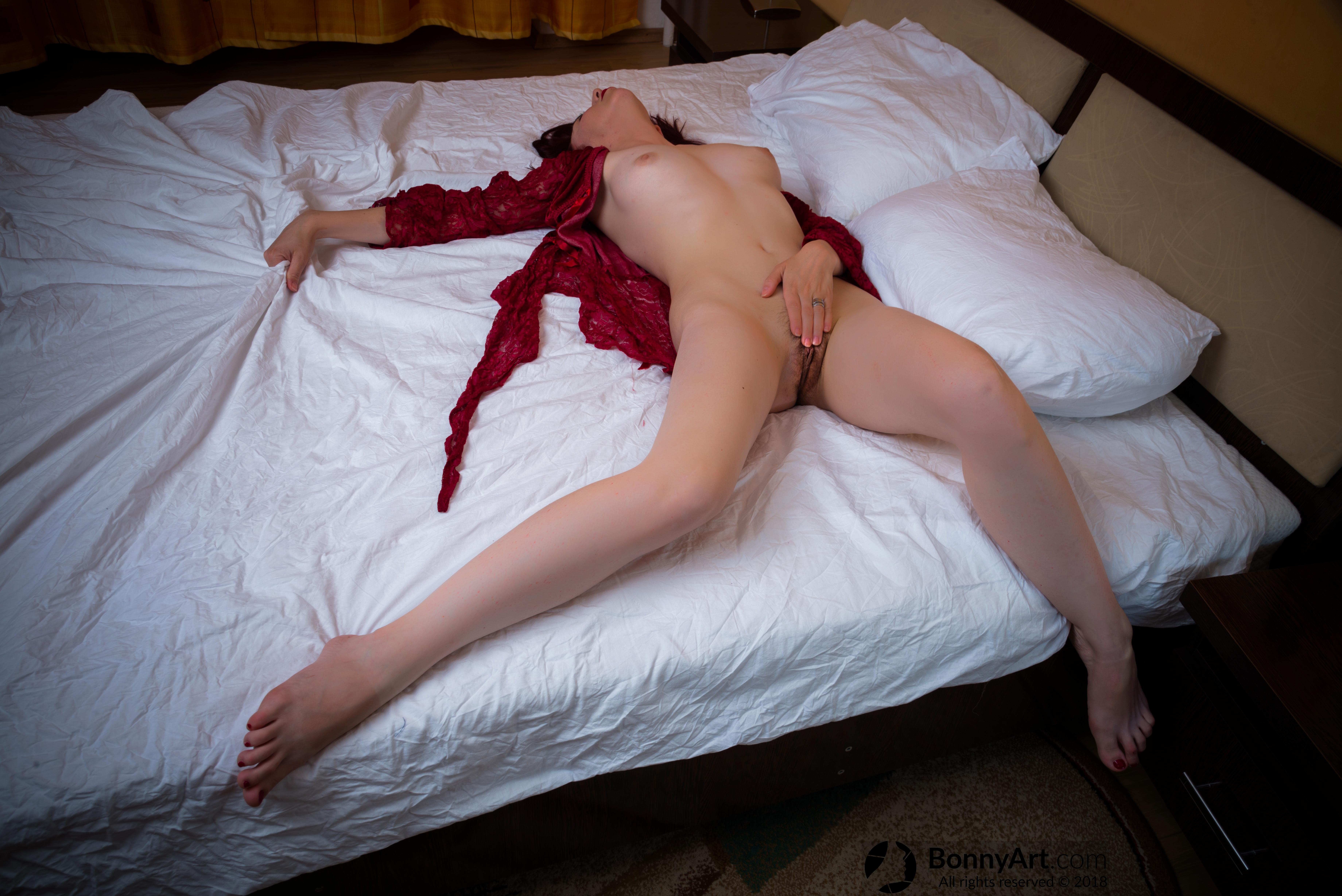 Woman's Private Climax Masturbation in Bed HD