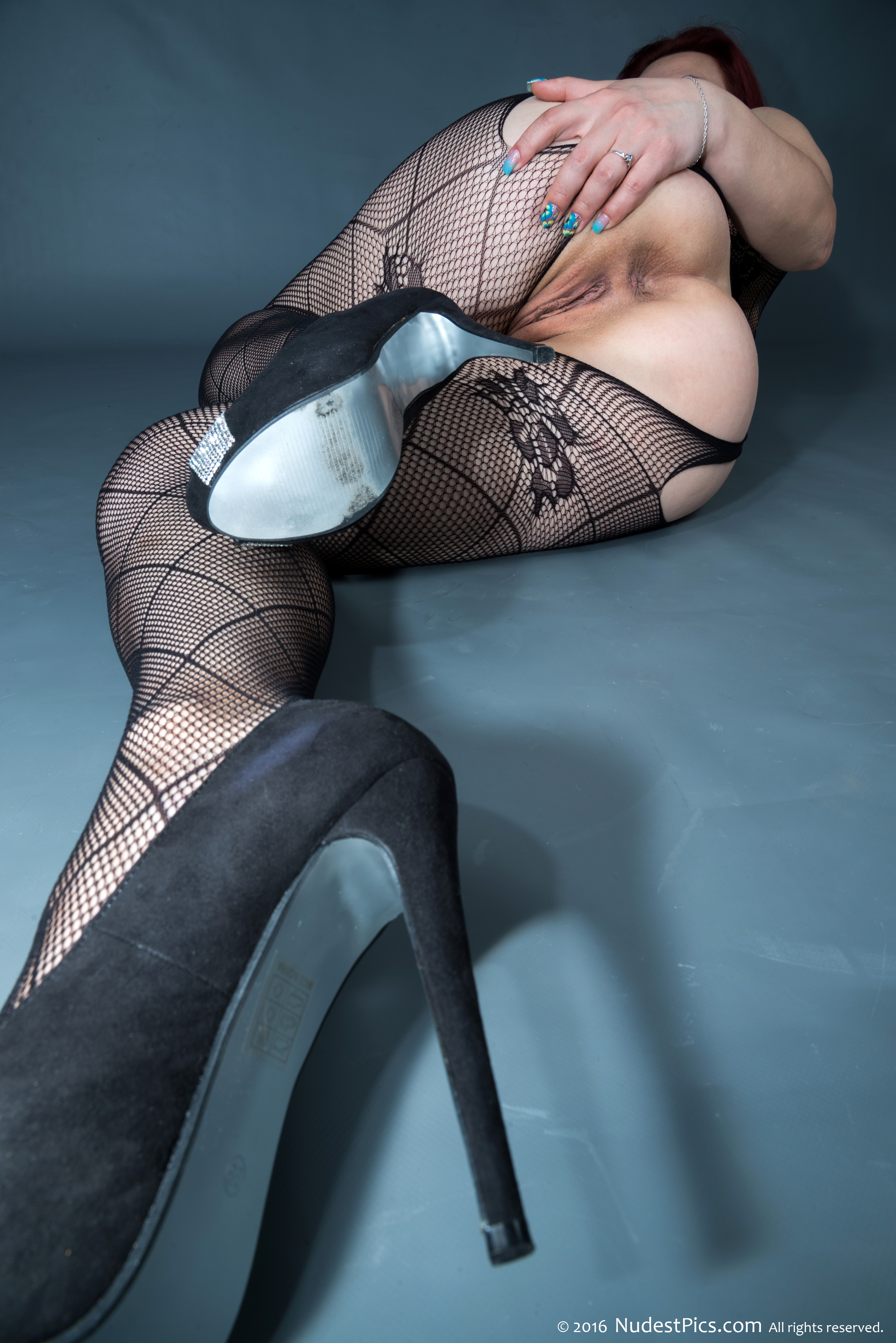 High Heels Sexy Stockings Spreading Hot Derriere