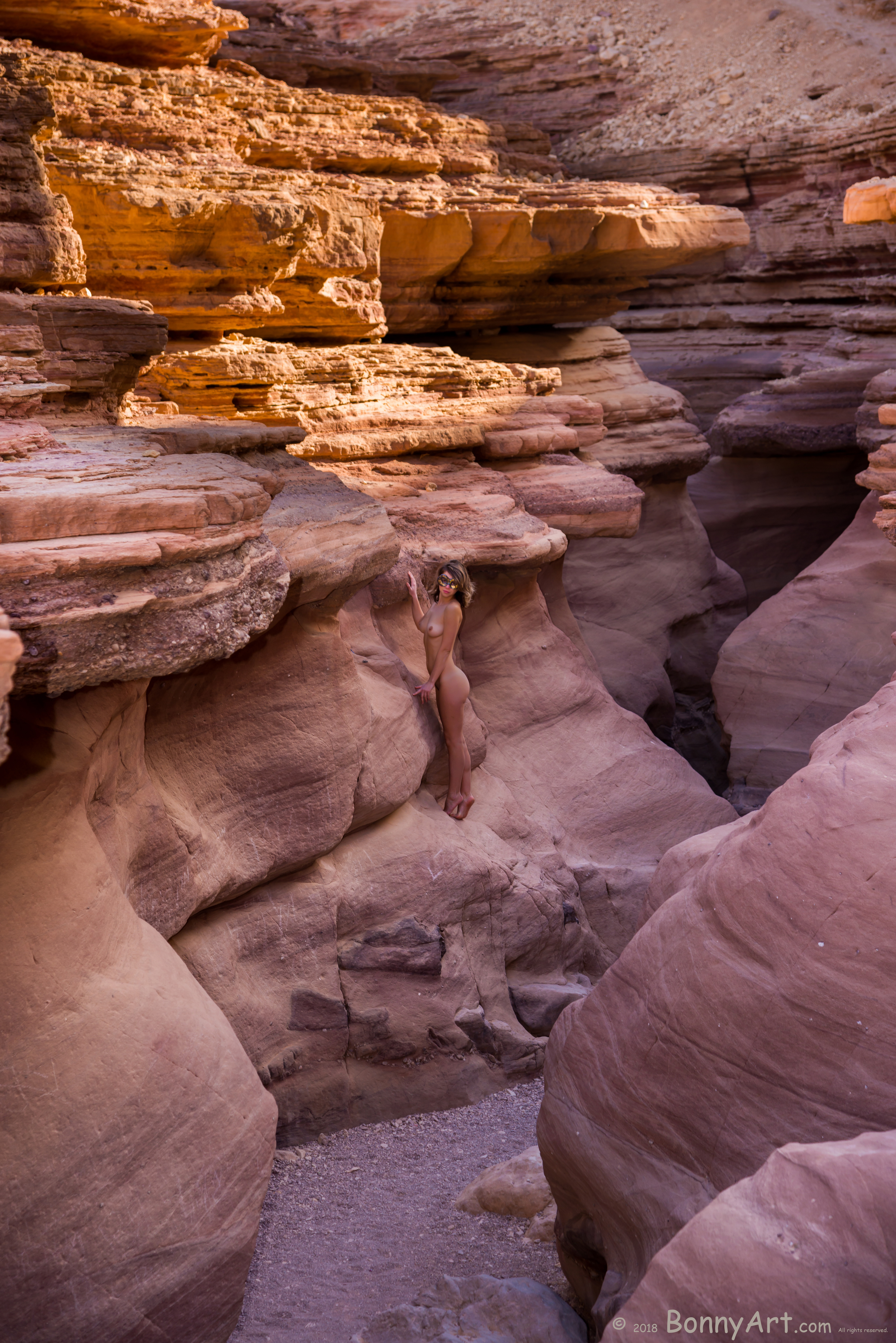 Nude Girl at the Red Canyon HD