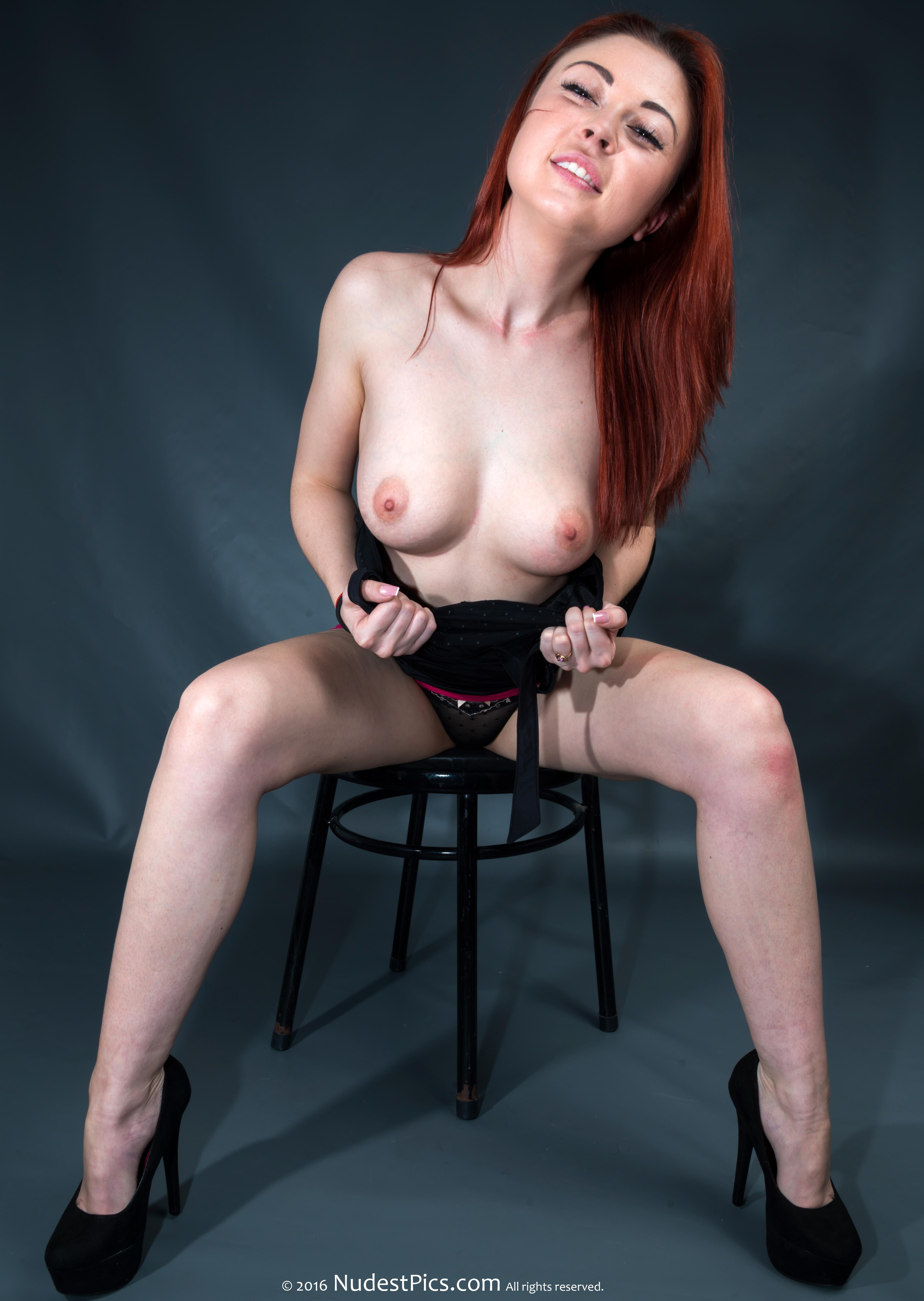 Pretty Cool Redhead Flashing Ukrainian Small Tits