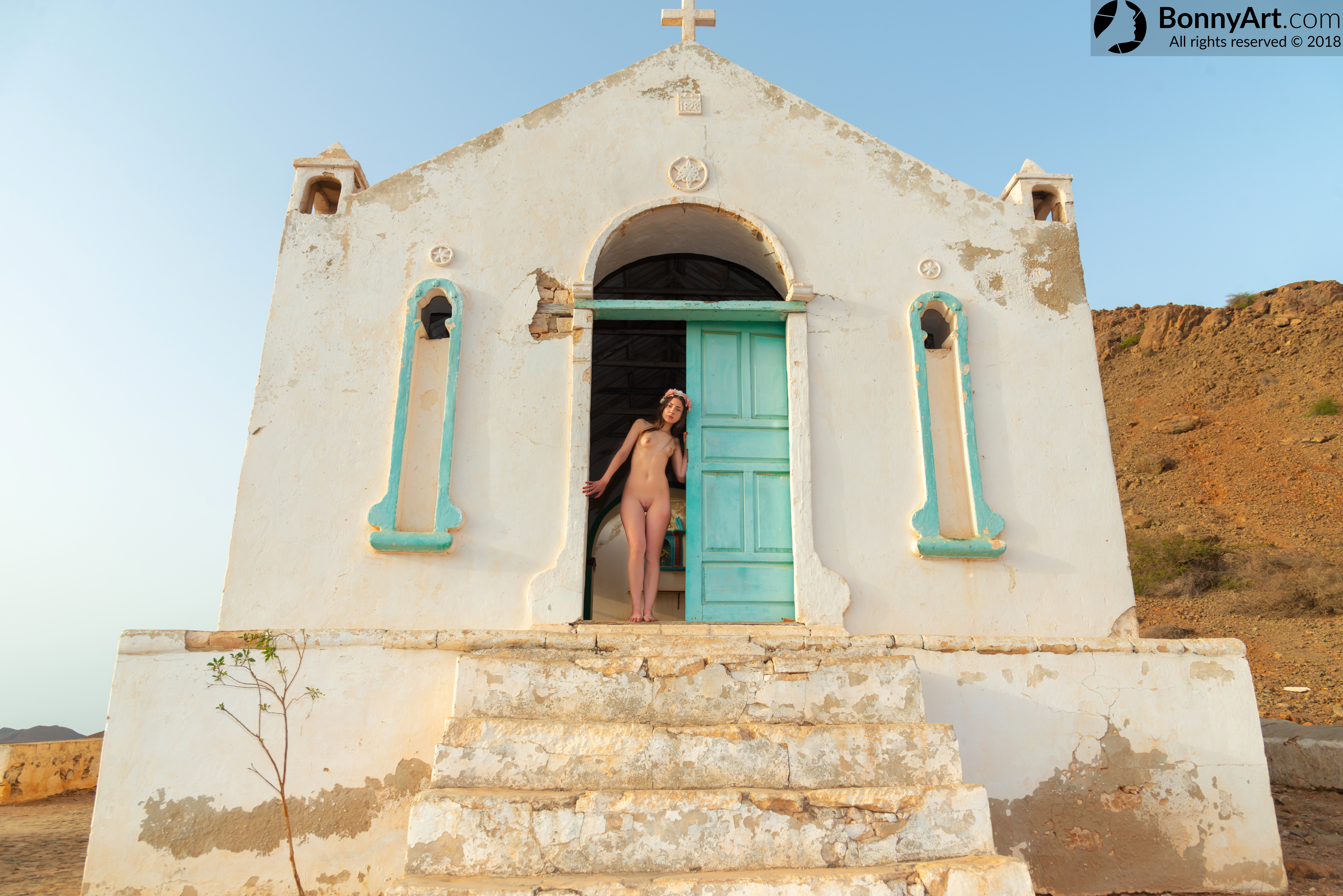 Nude Girl at the Church's Door HD