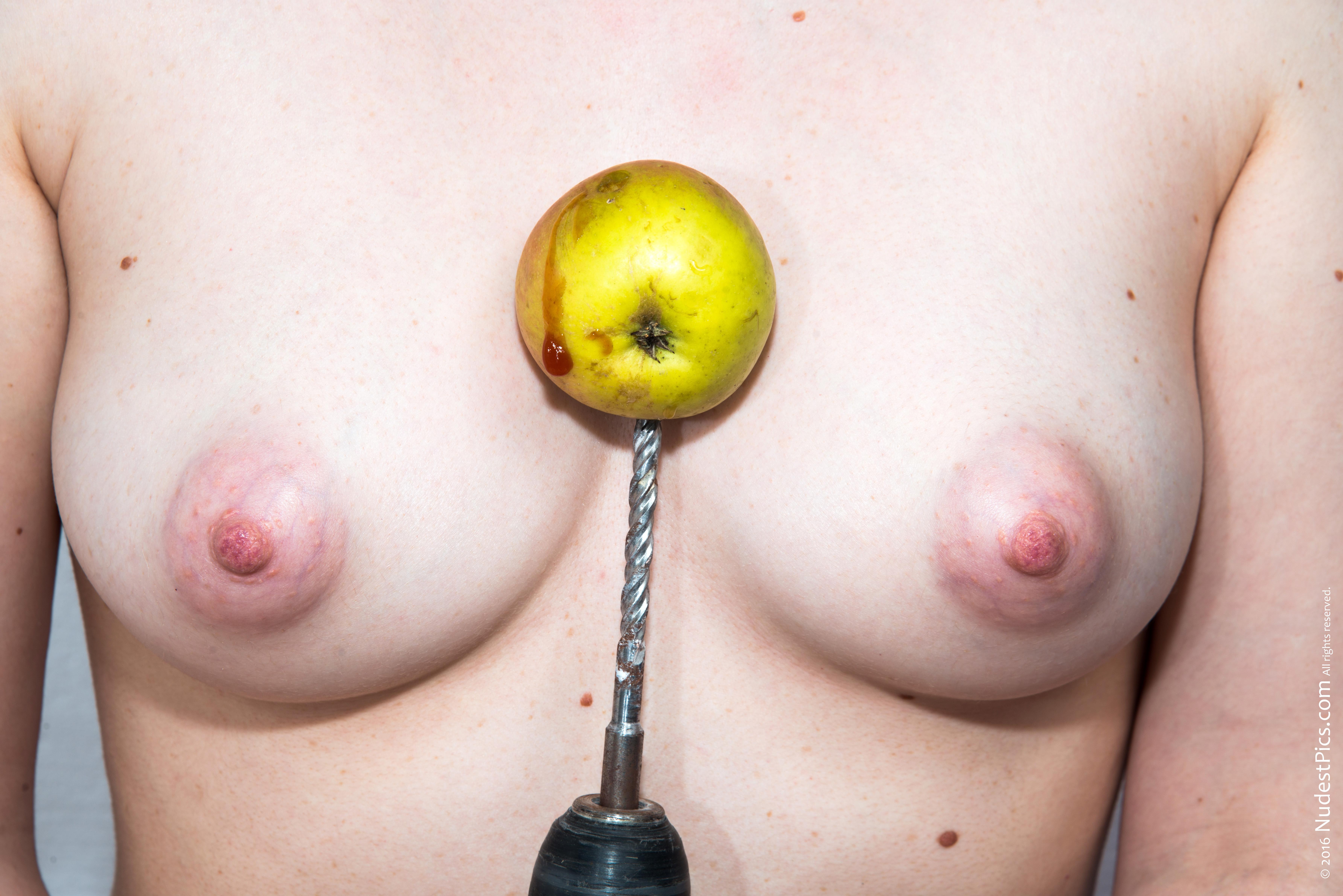 Killing an Apple on Breasts full HD