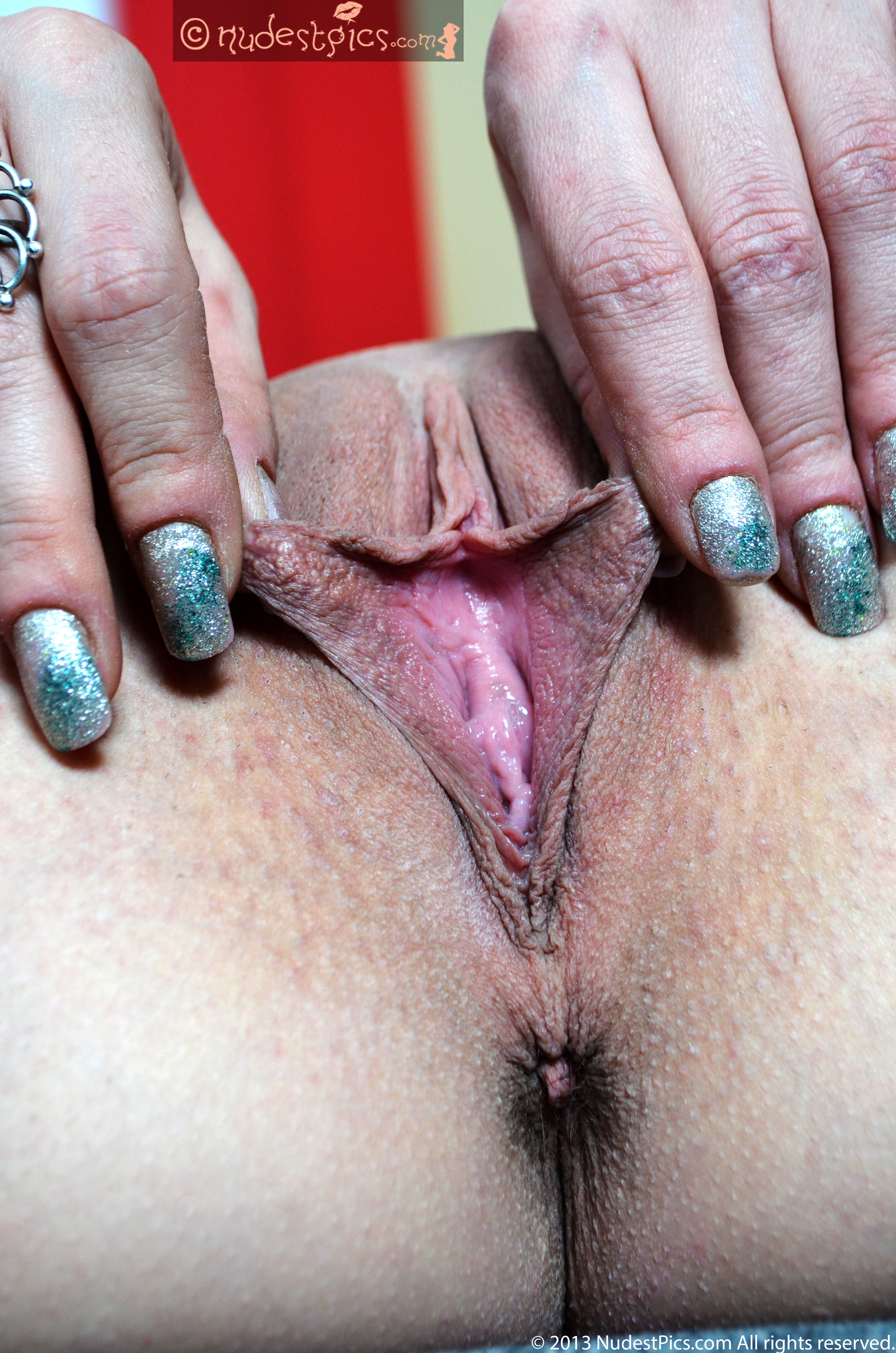 Stretching Her Longer Inner Labia