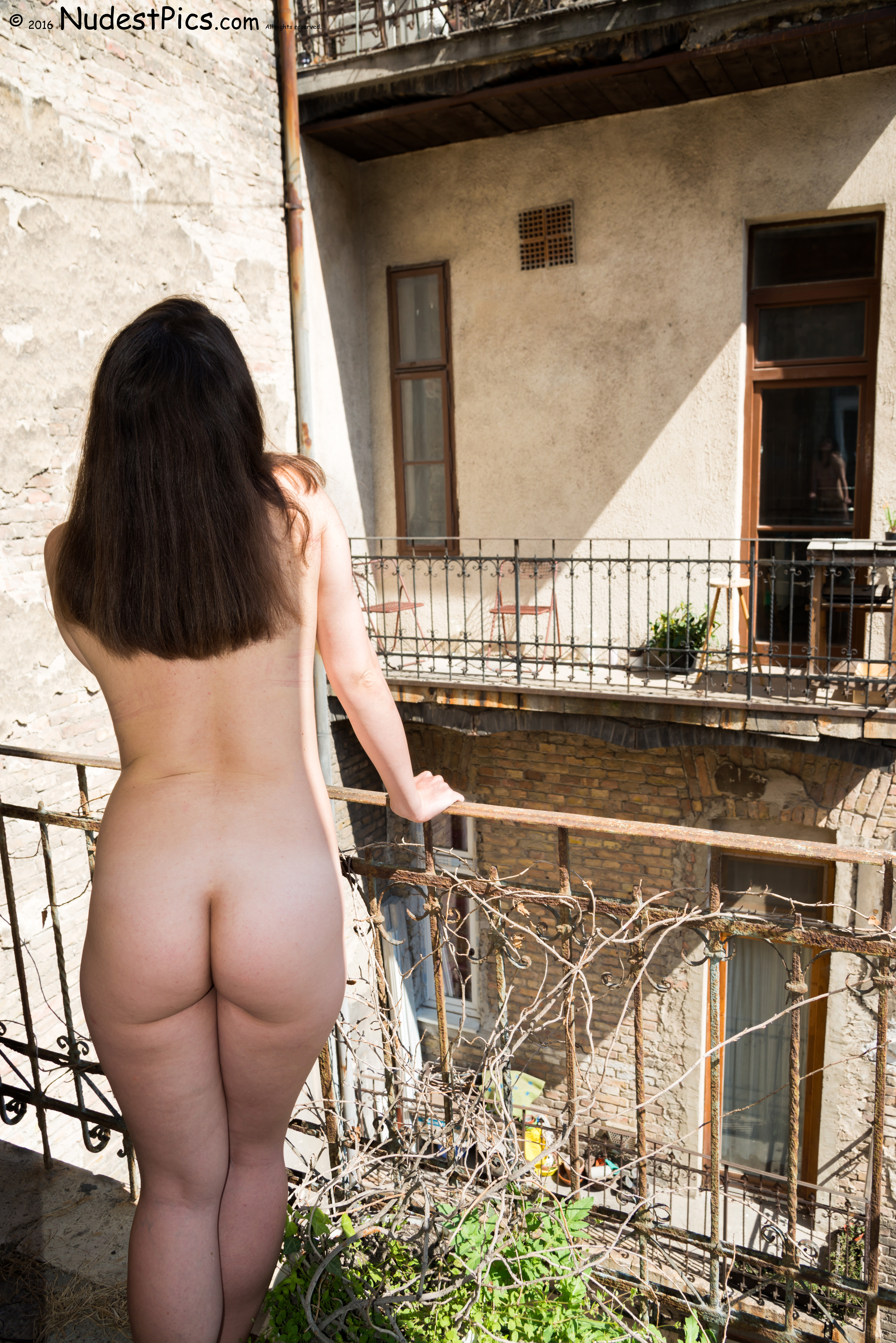 Naked from Behind on her Balcony HD