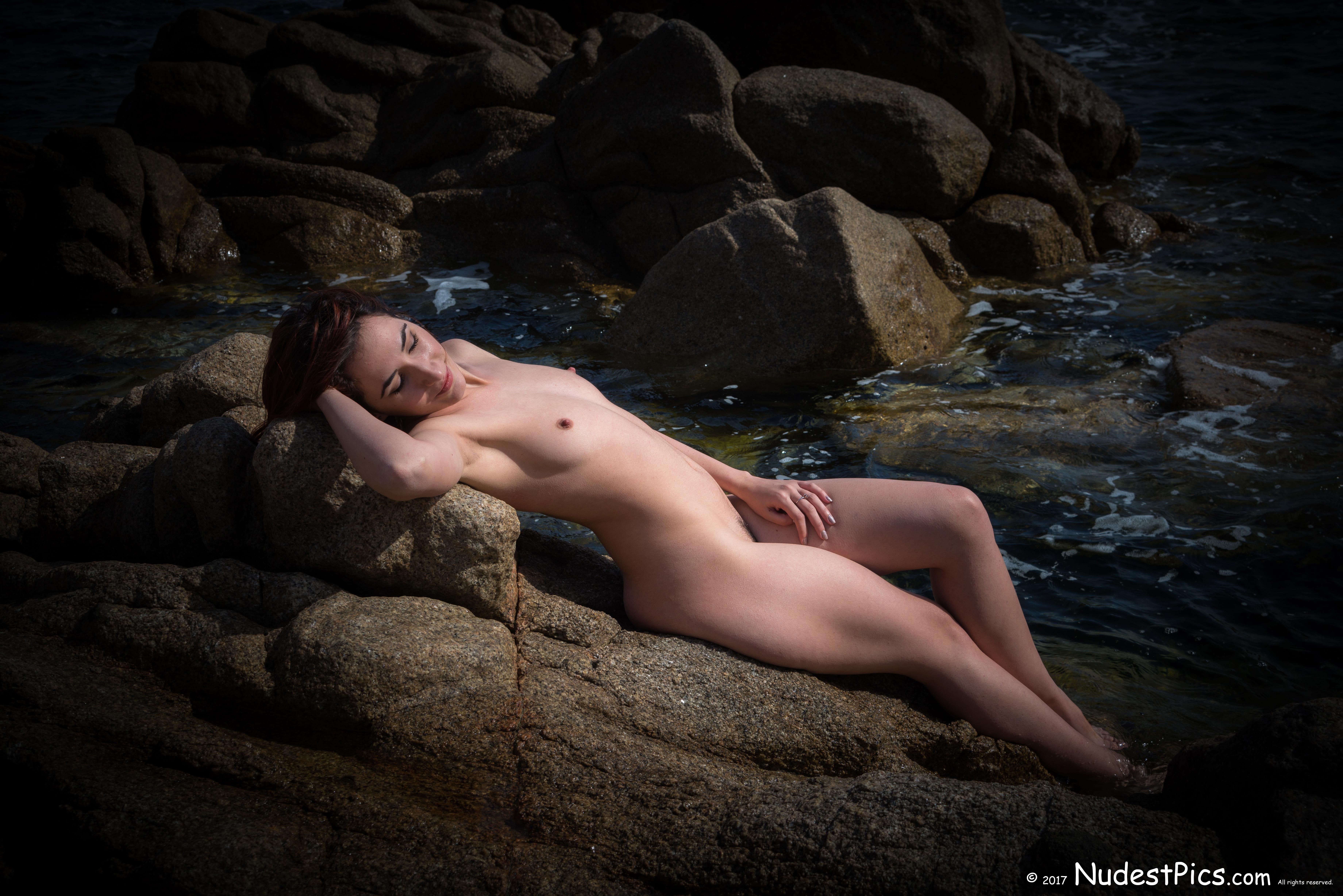 Mermaid Nudist Relaxing Sunbath HD