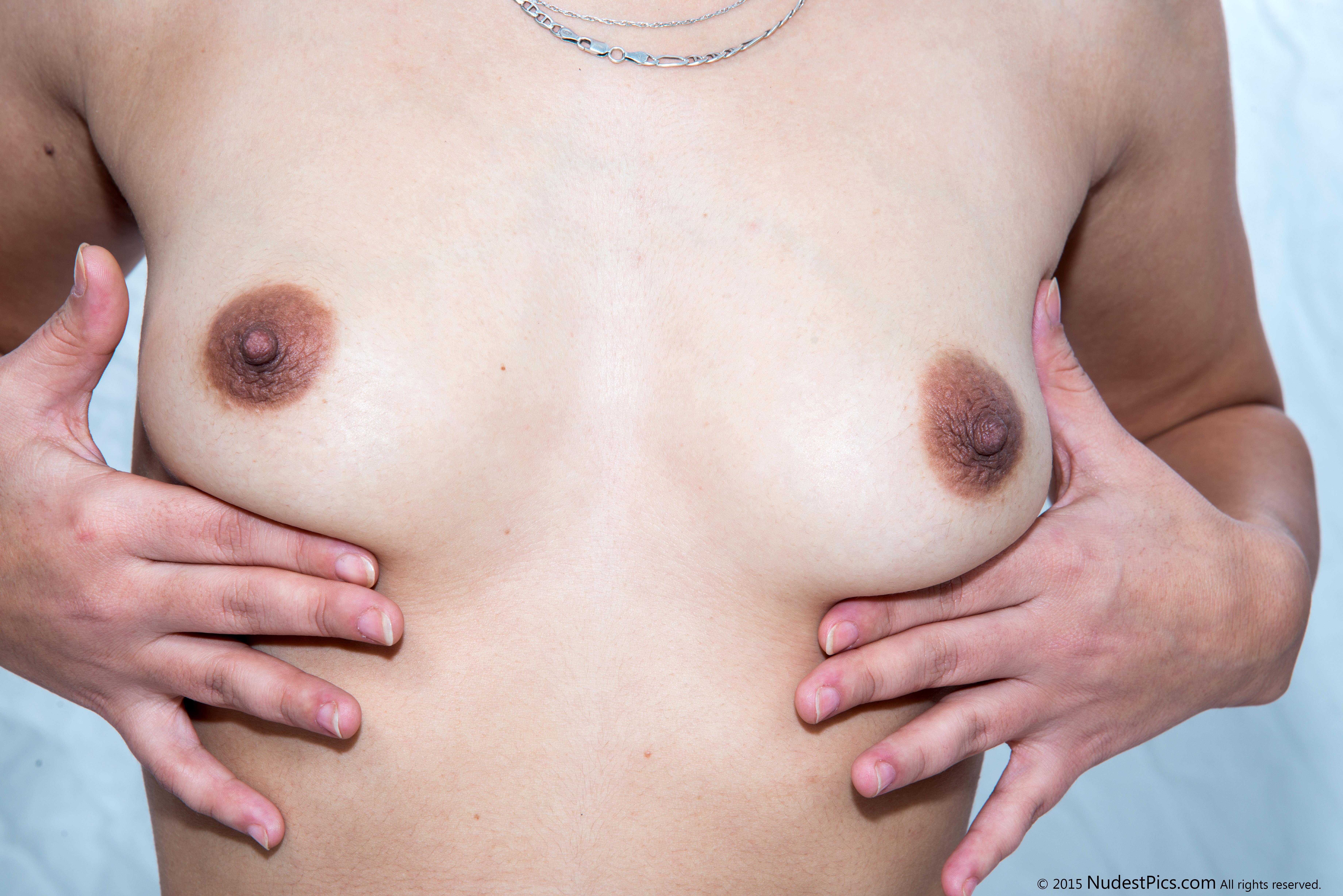 Holding White Tiny Tits HD
